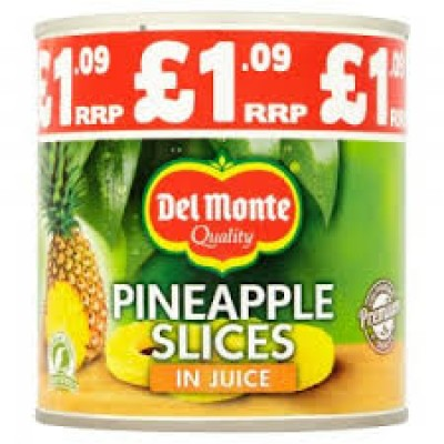 DEL MONTE PINEAPPLE SLICES IN JUICE PM