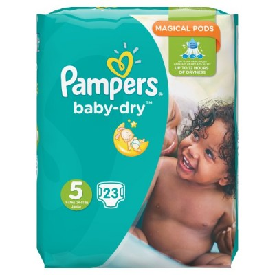 PAMPERS BABYDRY TAPED S5 CARRY PK