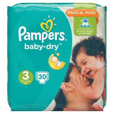 PAMPERS BABYDRY TAPED S3 CARRY PK