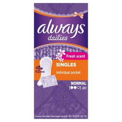 ALWAYS DAILIES LINER NORMAL SCENTED 20'S