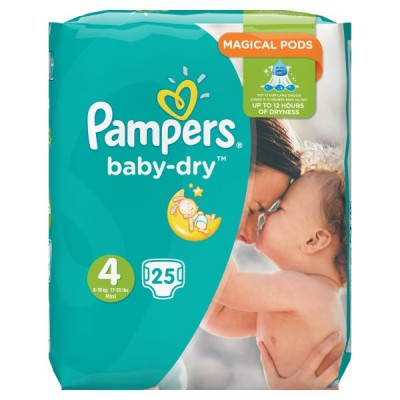 PAMPERS BABYDRY TAPED S4 CARRY PK