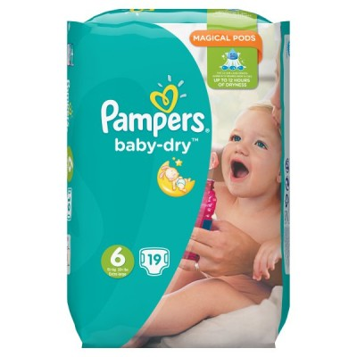 PAMPERS BABYDRY TAPED S6 CARRY PK