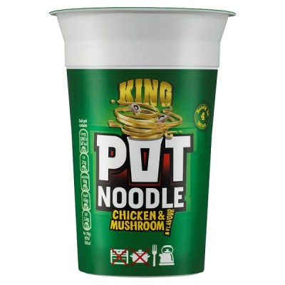 KING POT NOODLE CHICKEN/MUSHROOM