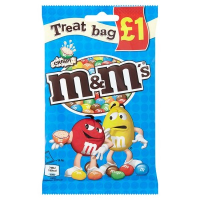 MARS M&MS CRISPY TREAT BAG PM