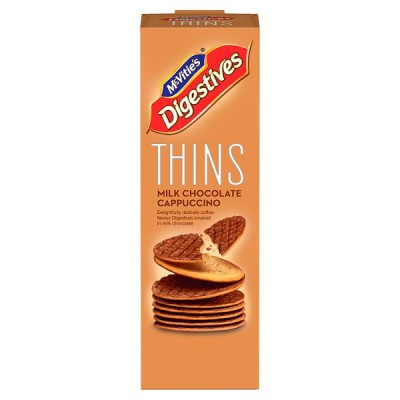 MCVITIES DIGESTIVE THINS CAPPUCCINO