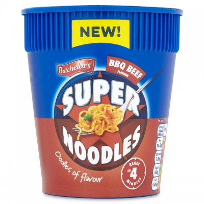 BATCHELORS SUPER NOODLES POT BBQ BEEF