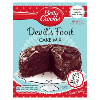 BETTY CROCKER  DEVILS FOOD CAKE MIX
