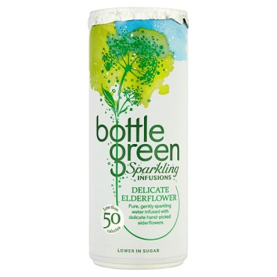 BOTTLE GREEN DELICATE ELDERFLOWER SPARKLING