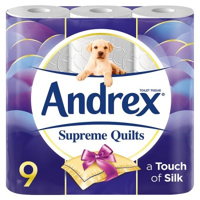 ANDREX 9ROLL T/TISS SUPREME QUILT