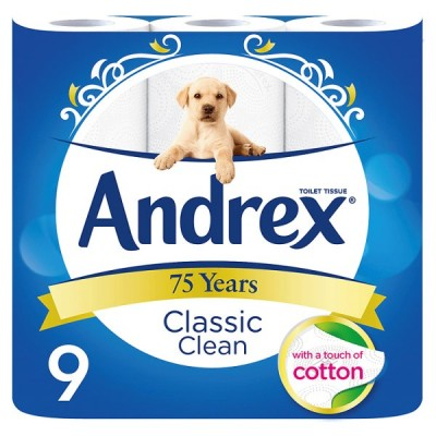 ANDREX 9ROLL CLASSIC CLEAN WHITE