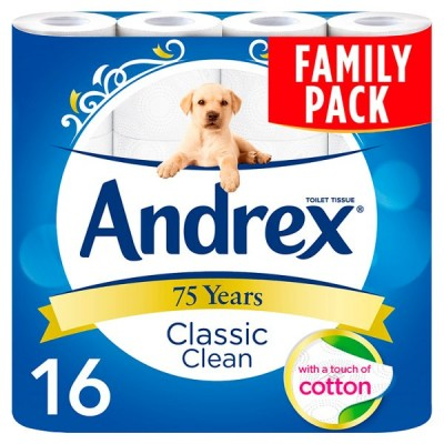 ANDREX 16ROLL CLASSIC CLEAN WHITE