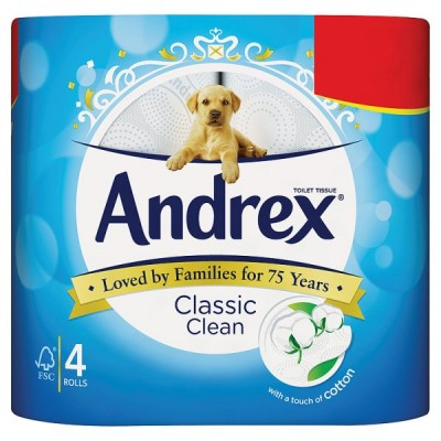 ANDREX 4ROLL CLASSIC CLEAN PM2.25