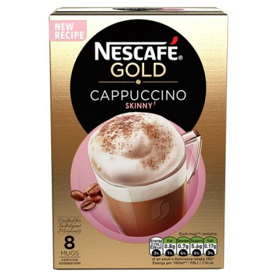 NESCAFE GOLD CAPPUCCINO SKINNY UNSWEETENED 8PK