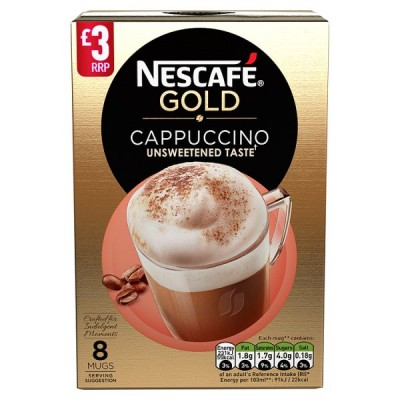 NESCAFE GOLD CAPPUCCINO UNSWEETENED PM