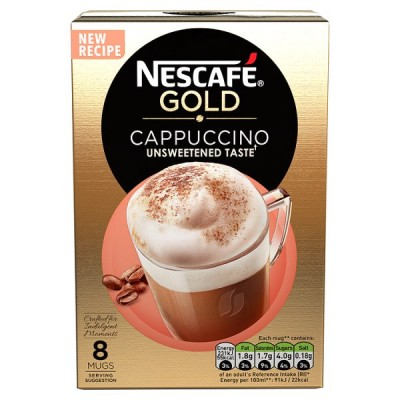 NESCAFE GOLD CAPPUCCINO UNSWEETENED 6PK
