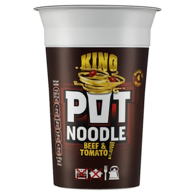 KING POT NOODLE BEEF/TOMATO